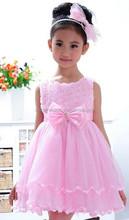 JPSKIRT1505058 2015 fashion zipper flower girl bead rose bowknot double layer lace princess wedding dresses