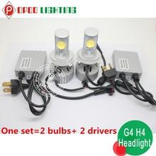 Trade Assurance car led headlight,custom made G4 30w 3200lm motorcycle car led headlight