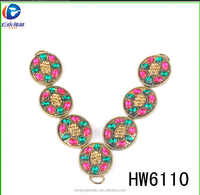 Hw6110 Hot sale colorful amazing beautiful T chain for flip flops