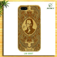 Hot sale handmade 100% nature wooden bamboo case protective cell phone for i Phone 5