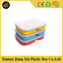 Wholesale FDA & LFGB collapsible silicone Lunch Box for school children