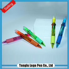 High quality colorful non-toxic new plastic highlighter ball pen