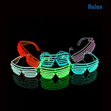 2016 plastic flashing led light glasses EL wire glasses for funny Christmas