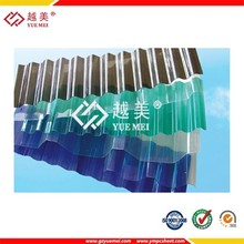 flexible transparent plastic sheet corrugated polycarbonate sheet