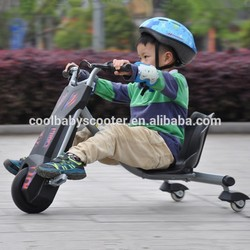 2015 fashionable 3 wheel flash rider Tricycle 360 dual pedal scooter electric for kids baby