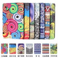 "Painting Pattern Slim 3- Folding Leather Case Cover Skin For Amazon Kindle Fire HD 7.0"" 2015"