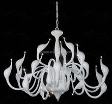 modern fancy creative white swan chandelier
