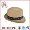 wholesale short brim cheap straw fedora hats for sale