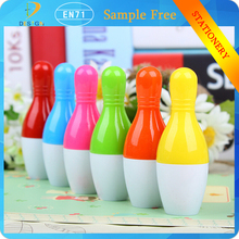 Wholesale best gift Creative stationery bowling retractable ball pen for children to learn