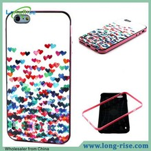 Fashion 2 in 1 Detachable Colorful Hearts Pattern Phone Case for iPhone 6 Plus Case