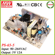 Meanwell PS-65-5 60w switching power supply 5v 12a
