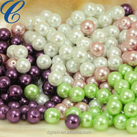 Factory Price Round Pearl Plastic Loose Beads, Hot Sale Plastic Pearl Beads, 2015 Mix Colored Elegant Design Bead Wholesale