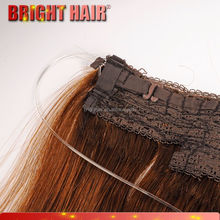 Flip in hair tape synthetic hair extensions