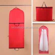 Alibaba Shenzhen supplier Reinforced Sew and stitch wedding dress custom dust bag