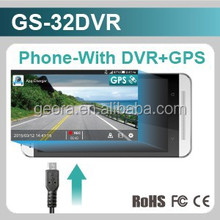 Mobile phone with DVR & GPS Smart car charger in car