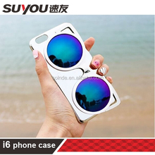 Best selling Fashion Sunglasses personality PC Mobile Phone Case cell phone case for iphone 6/6plug