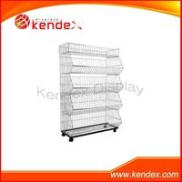 wholesale factory metal wire basket display dump bin