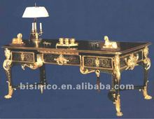 French style wooden marquetry executive office furniture/antique royal office desk
