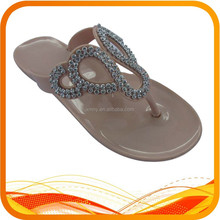 girl rhinestone PVC flip flop with trade assurance