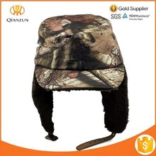 Camo Flat Top Winter Aviator Trooper Trapper Military Hat with Earflap