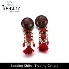 Office Lady silver hoop earrings cool ear tunnel piercing dangler