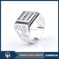 Alibaba express jewelry wholesale arab men ring 925 sterling silver jewellery
