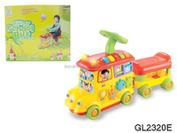 Activity Musical Big Toy Bus with Headlights, Ride On Battery Operated Kids Baby Car,Lots of Functions & Learning