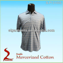 Hot selling mercerized cotton brand polo t shirt