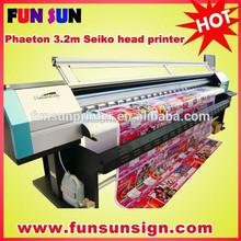 Big sale! Phaeton UD-3206P 6 seiko head solvent printer(3.2m,high quality)