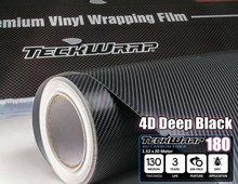 TeckWrap 4D Black Carbon Fiber Hot Sale 1.52*20m Car Wrapping Vinyl Roll for Changing Cars Stickers Body Color