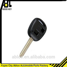 2014 hot sale yuyao abluo high quality 2 hole car shell car key for toyota key replacement