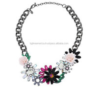 2015 Spring Wholesale Charms Handmade Necklace Flower Statement Necklace