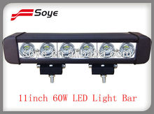 11Inch Single row Fit for Jeep Off road 4x4 led ligth bar 60W