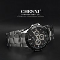 Wholesale wrist watch stainless steel chain black color wrist watch all type of wrist watch