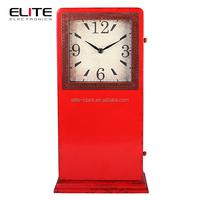 Quartz metal floor standing clock with plastic bottom plate