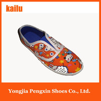 Wholesale 2015 spring the new model children's Lovely animal canvas shoes