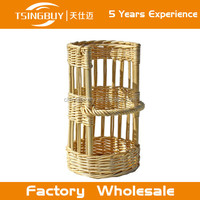 Eco-friendly and disposable handmade plastic PP rattan bread display baskets/commercial bread show basket/plastic wicker rope