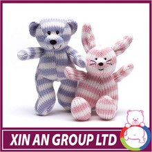 AD58/ASTM/ICTI/SEDEX plush stuffed animal good fashion pattern knitted toys