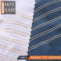 2014/2015 hot shaoxing China Cotton yarn-dyed silver stripes fabric for brand women clothing