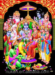 Wholesales different designs high quality 3D indian god picture