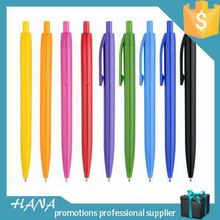 Good quality promotional plastic ballpoint pen with key ring