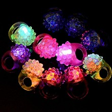 Wholesale Party Supply Flashing Led Bumpy Ring Party Favor LED Flashing Rubber Ring