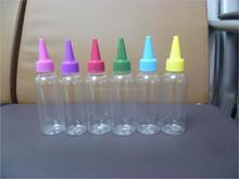 liquid nicotine/liquid a flavor taste/ transparent PET smoke oil bottle, E-liquid bottle with long thin dropper
