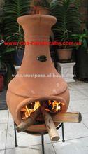 Clay chiminea
