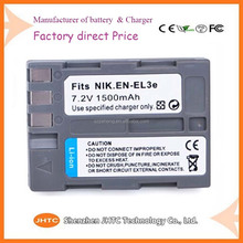 replacement camera battery pack EN-EL3e rechargeable batteries and battery 7.4v li-ion battery pack