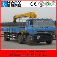 DongFeng 6*2 crane truck with booms made in China EQ1250 for sale