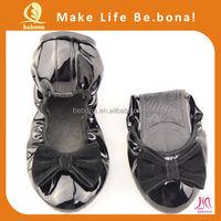 Ladies shoes wholesale China cheap foldable flats wedding shoes ballet flats
