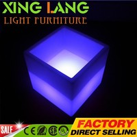 led glowing furnitrue color changing led square container for sale