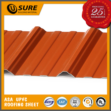 Red color pvc trapezoid roofing building material for warehouse project