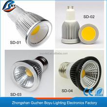 zhongshan mr16 spotlight lamp price 3w 5w 7w 9w led spotlight Aluminium gu10 led spot light 120 degree beam angle
